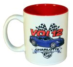 VOI 12 Photo Logo Coffee Mug with Red Interior