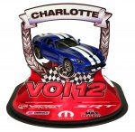 VOI 12 Thursday Centerpiece - Custom Blue Viper Diecast with White Stripes!