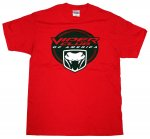 Viper Club of America Short Sleeve T-Shirt in Red